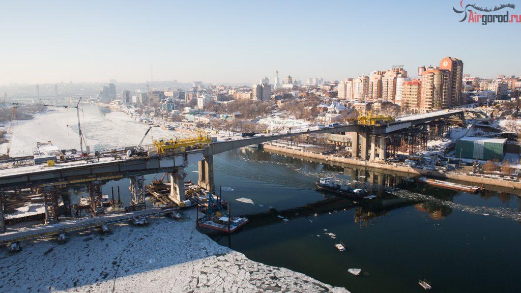 Ворошиловский мост-дублер. Перед подъемом центрального пролета