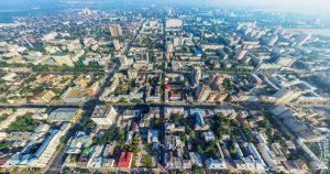 Центр города с высоты 90-то этажного здания