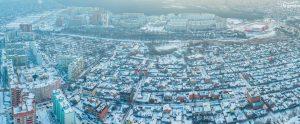 Зимние панорамы Ростова. м-р Северный
