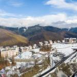 Олимпийская деревня в конце ноября. Аэросъемка