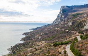 Горно-морской пейзаж в Крыму