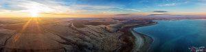Цимлянское водохранилище на закате. Ширина фотокартины - 1,5 м
