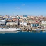 Панорама центра Ростова. Аэросъемка