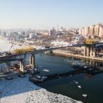 Строящийся Ворошиловский мост