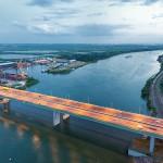 Аксайский мост открылся. 2015. Аэросъемка