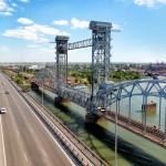 Темерницкий мост. Аэросъемка