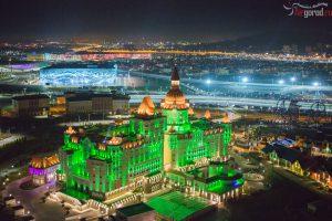 """Сочи. Конгресс-холл """"Богатырь. Фото с воздуха"""
