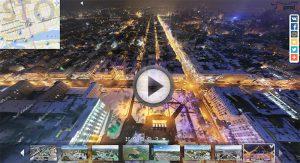 Загрузить виртуальную панораму - Площадь Советов ночью