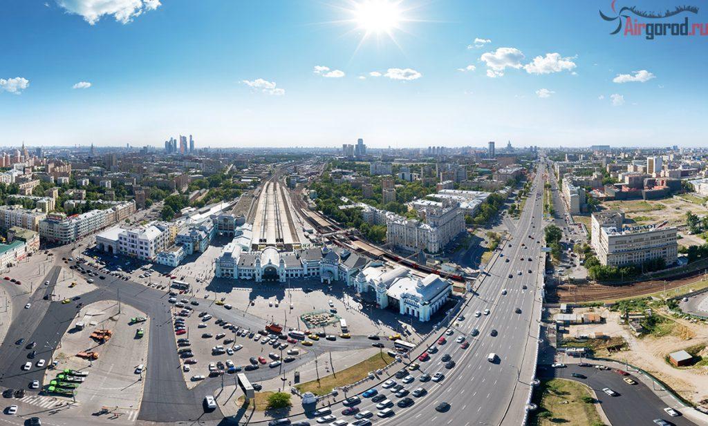 Белорусский вокзал с воздуха