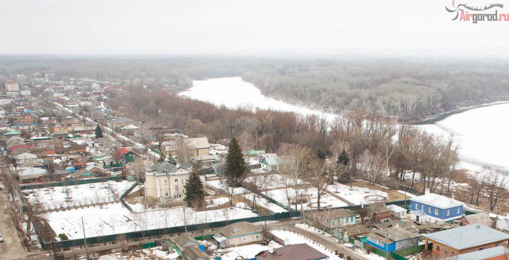 Вид с воздуха на дом Шолохова