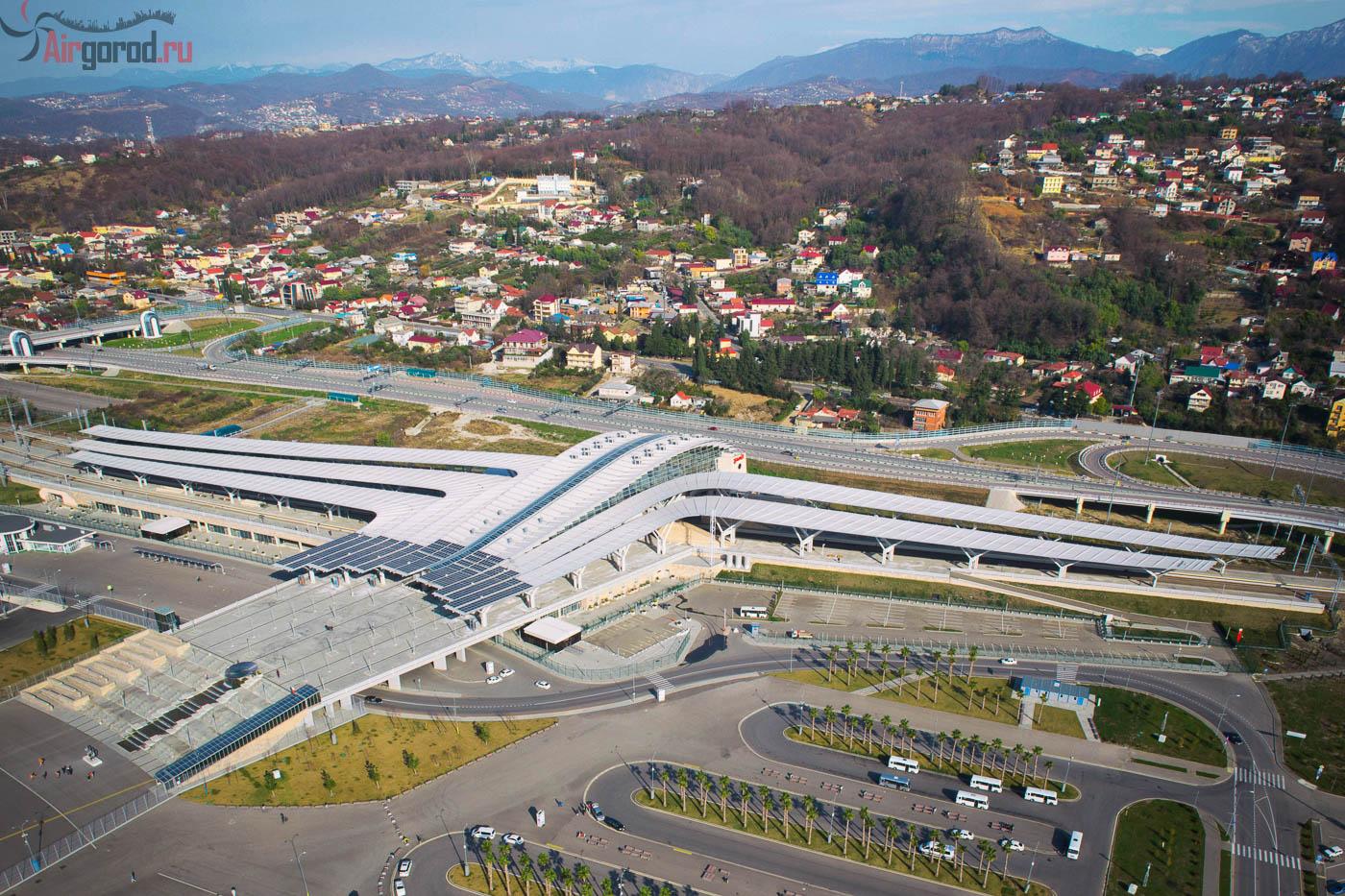 Вокзал Олимпийский парк зимой