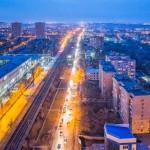 Ростов, Нансена в сторону Западного, на закате, Аэросъемка