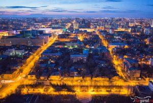 Вид на Ростов в сумерках