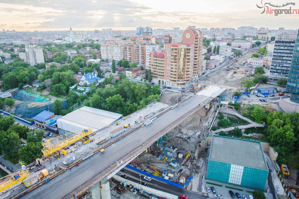 Строительство Ворошиловского моста 29.05.2015. Аэросъемка