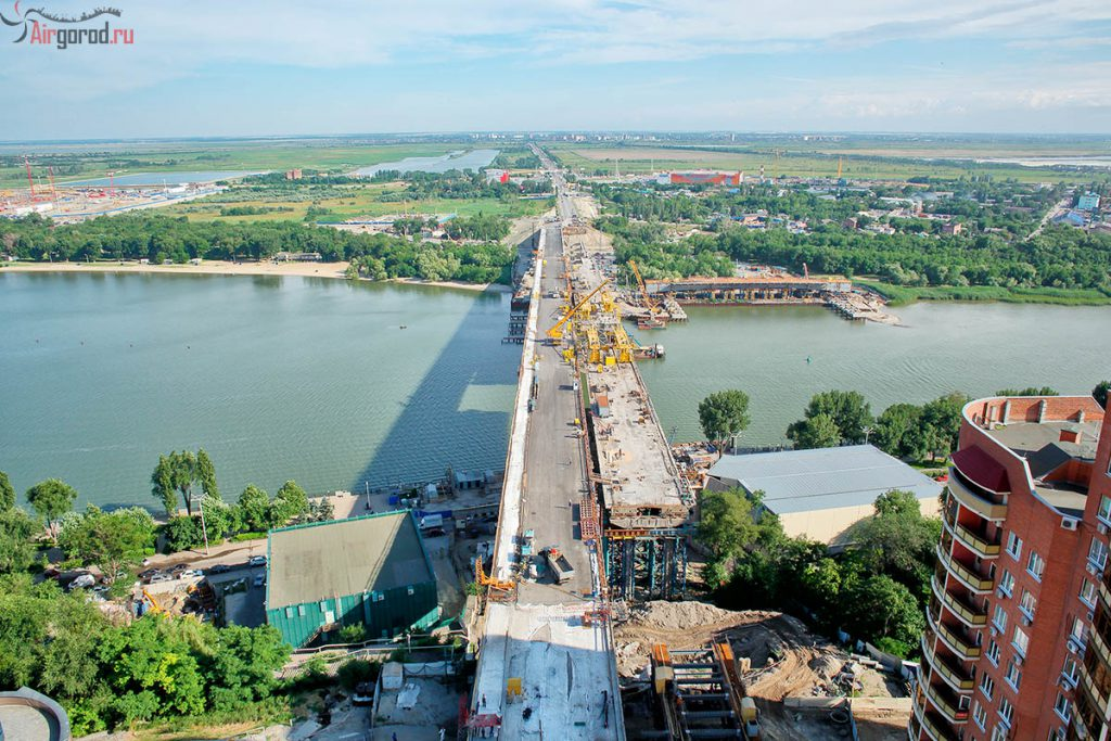 Ворошиловский мост 28-06-2015. Аэросъемка. AirGorod.ru