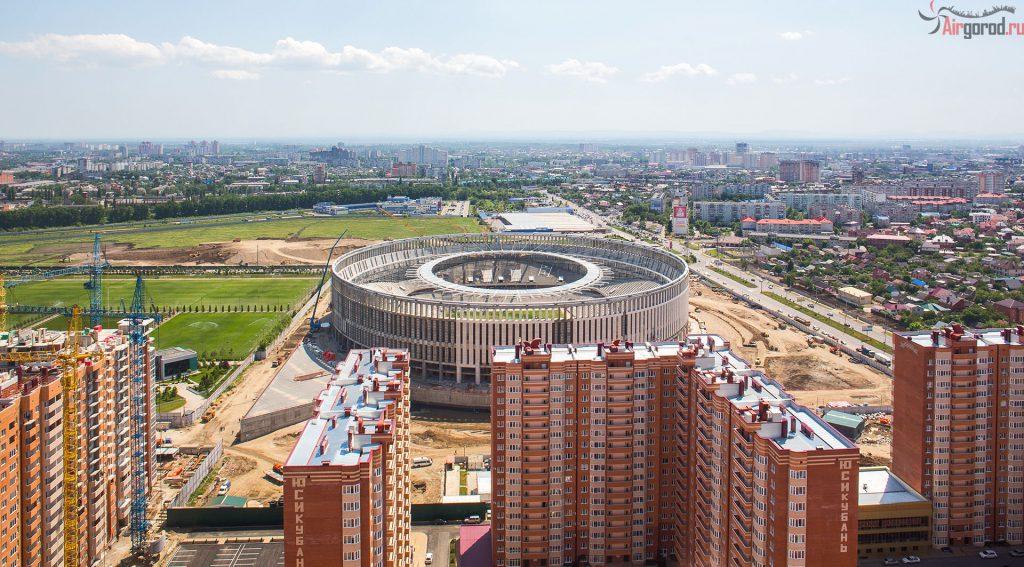 Краснодарский стадион. Стройка. Аэросъемка