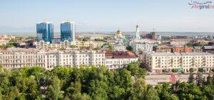 Ростов. Купеческий двор, храм. Аэросъемка