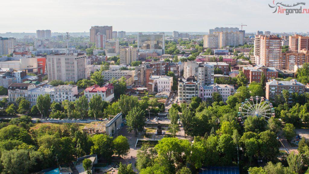 Ростов. Парк Горького.Аэросъемка
