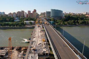 Ворошиловский мост 26 июля 2015 г. Аэросъемка. Скоро открытие