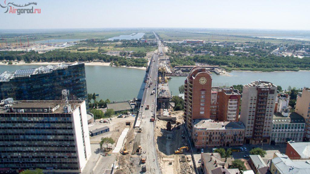 Ворошиловский мост перед открытием. 08.08.2015. Аэросъемка
