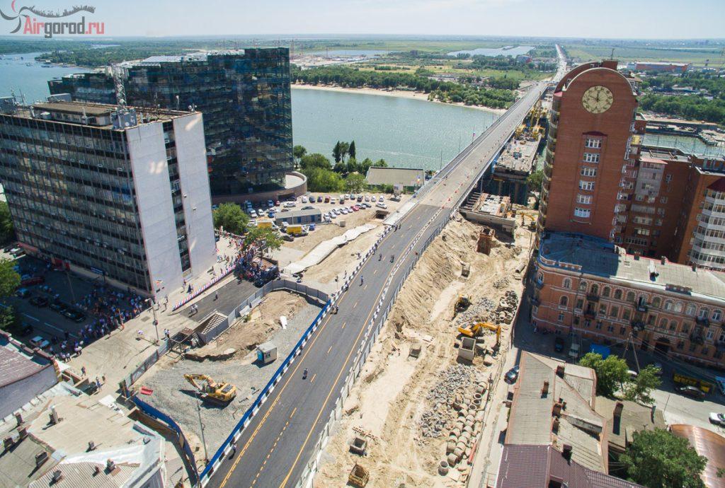 Новый Ворошиловский мост. Открытие 11-08-2015. Аэросъемка