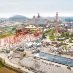 Сочи парк в начале лета. Строительство Французского Театра воды