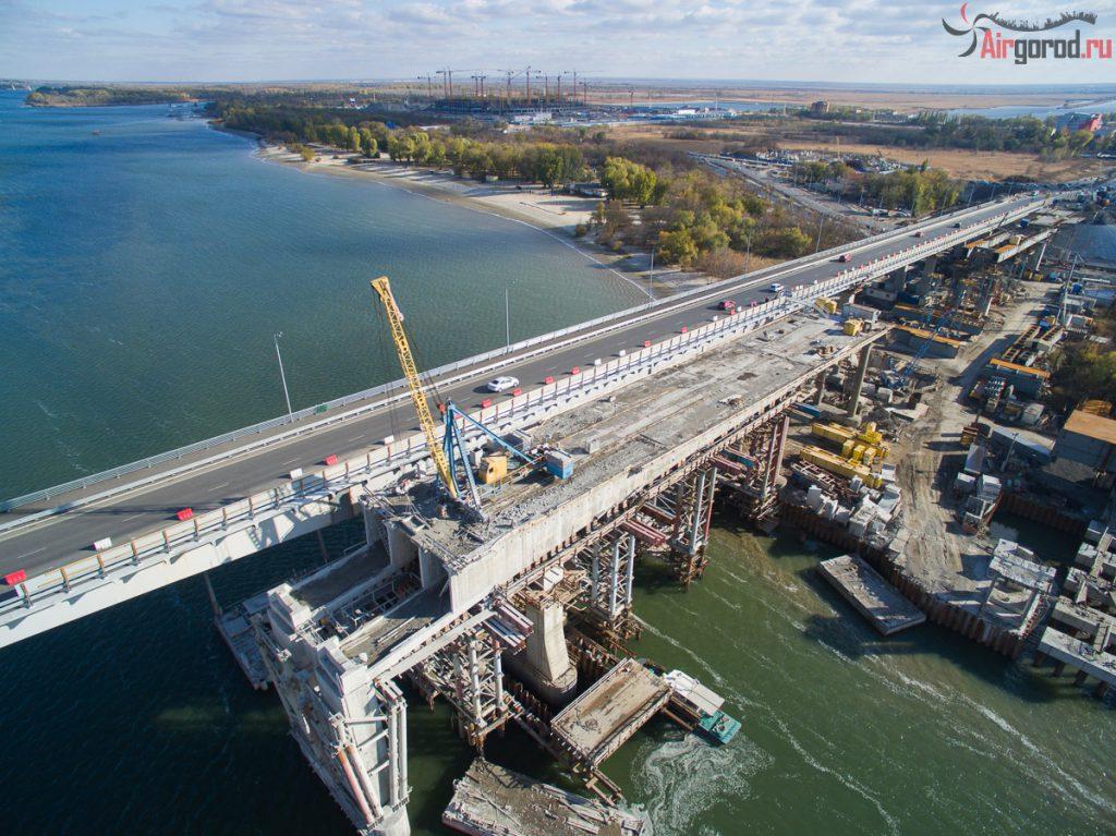 Ворошиловский мост. Октябрь 2015. Аэросъемка