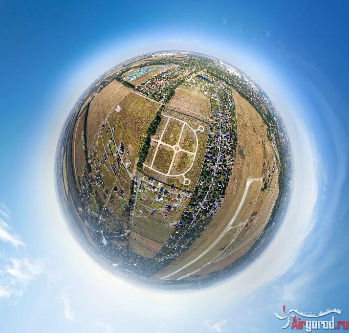 Виртуальная панорама. Поселок Стандартный Ленинован. Аэросъемка