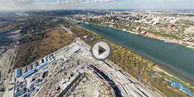 Виртуальная панорама с воздуха. Ростовский стадион Арена. ЧМ2018