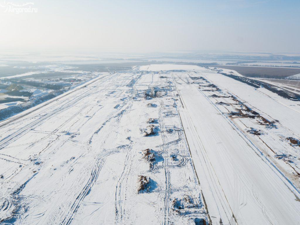 """Строительство аэропорта """"Южный"""". январь 2016"""