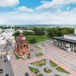 Театральная площадь во Владимире. Аэросъемка