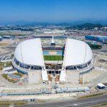 Сочи. Стадион Большой на реконструкции. Июль 2016. Аэросъемка