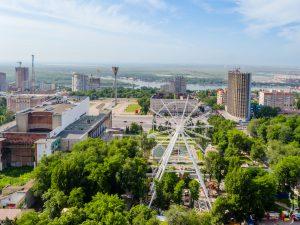 Строительство колеса обозрения в Ростове
