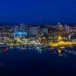 Морской порт Сочи в сумерках