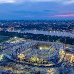 Строительство стадиона Арена. Август 2016. Аэросъемка