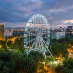Колесо Одно Небо в парке Революции. Аэросъемка