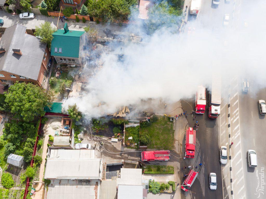 Тушения пожара на ул. Королева