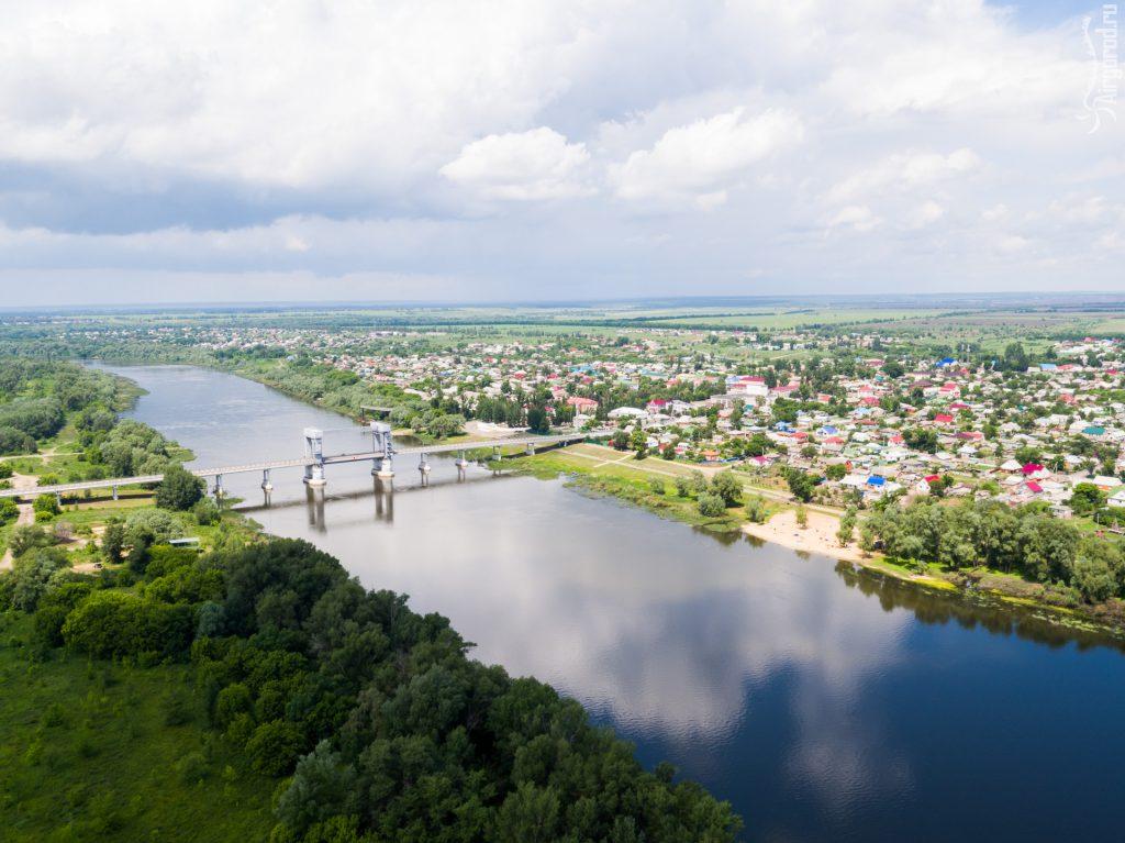 Станица Казанская. Верхнедонской район. Разводной мост через реку Дон