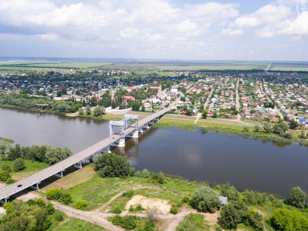 Станица Казанская. Верхнедонской район. Мост через реку Дон