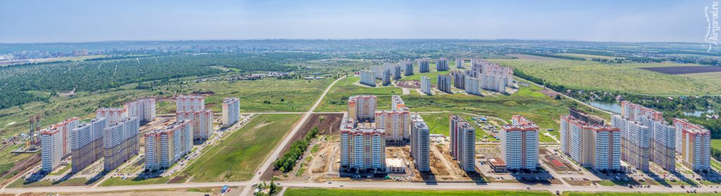 ЖК Суворовский. 2016 г. Съемка с воздуха. Фото для рекламы недвижимости