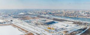 "Зимняя панорама стадиона ""Арена"""