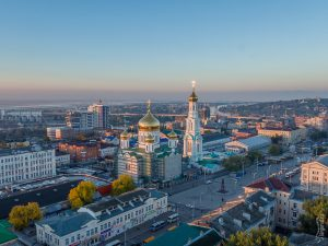 Панорама Ростова через крышу