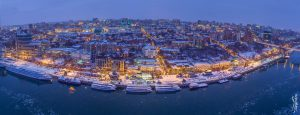 Вечерняя панорама Ростова. Зима