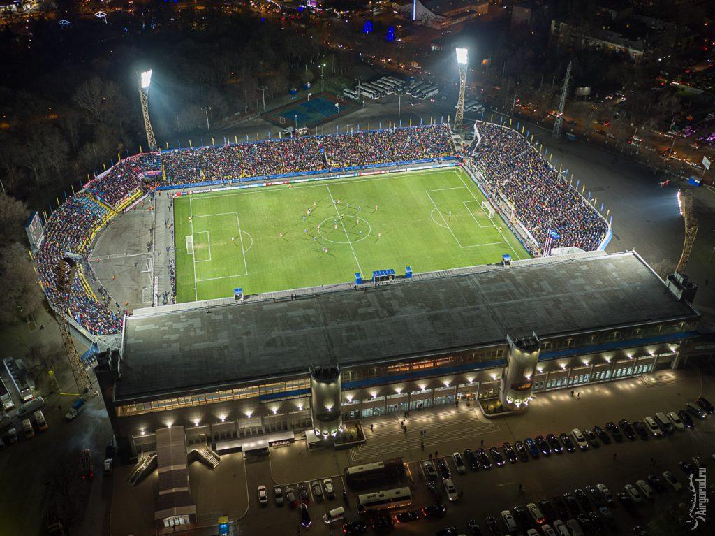 Стадион Олимп-2. Матч Ростов-Бавария. Аэросъемка