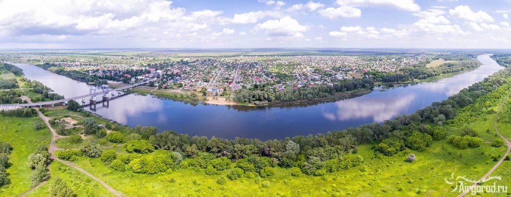 Станица Казанская Ростовской области с высоты
