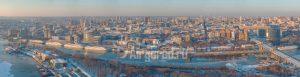 Ростов в снегу. Панорамный вид с левого берега. Код товара: DJI_0025