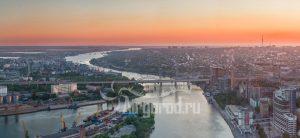 В ожидании захода солнца. Панорама над Доном. Код товара: DJI_0048