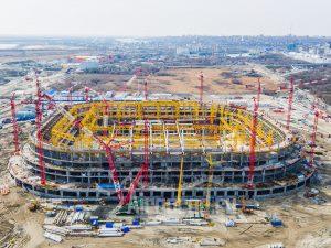 Стадион Арена. Строительство продолжается. Код товара: DJI_0052