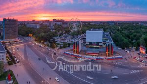 Театр Горького в ярких закатных красках. Код товара: DJI_0052