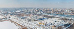 Стадион Арена. Стройка. Зима. Панорама. Код товара: DJI_0060 Panorama